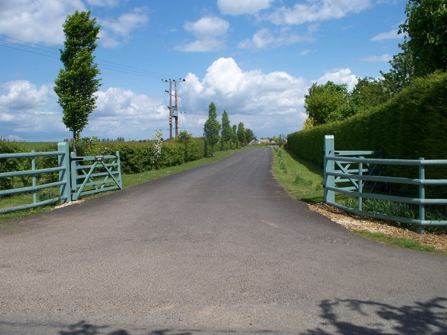 Driveway to the barns