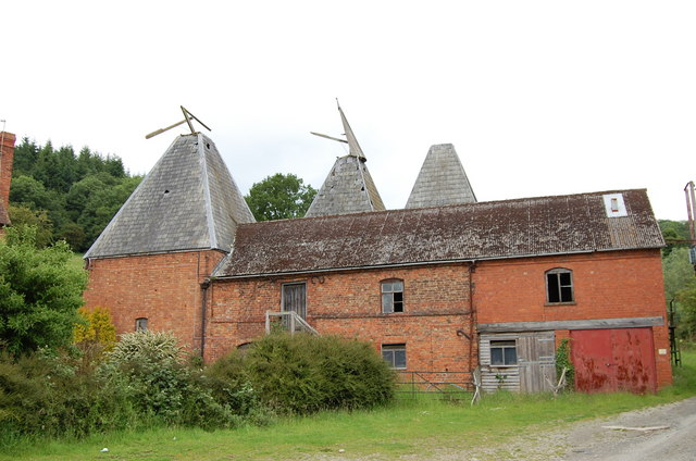 Ruined Oast House at Upper Mitchell Farm