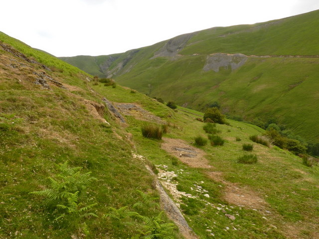 Track junction in Cwm Cerddin