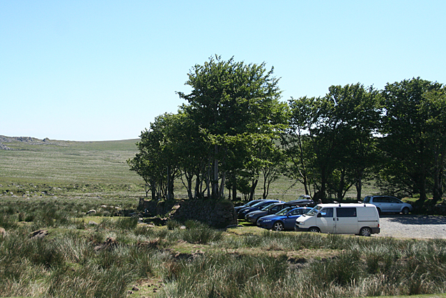 Dartmoor Forest: car park by the B3357