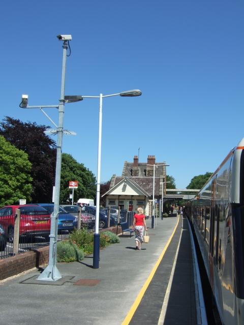 Platform at Sherborne Station