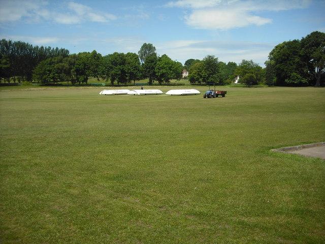 Preparing the wicket