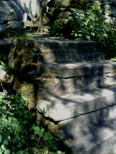 Footpath steps from Brunt Acres Road