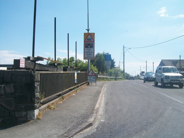 Road leading to the Marina and the Trading Estate