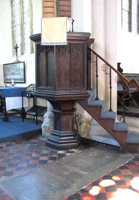 St Mary's church in Great Massingham - the pulpit
