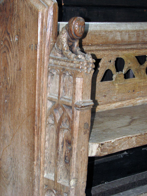 St Mary's church in Great Massingham - carved bench end