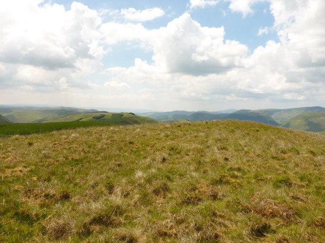 The summit of Y Gribin