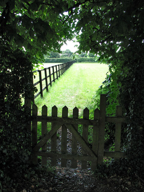Footpath south of St Michael's church, Hockering