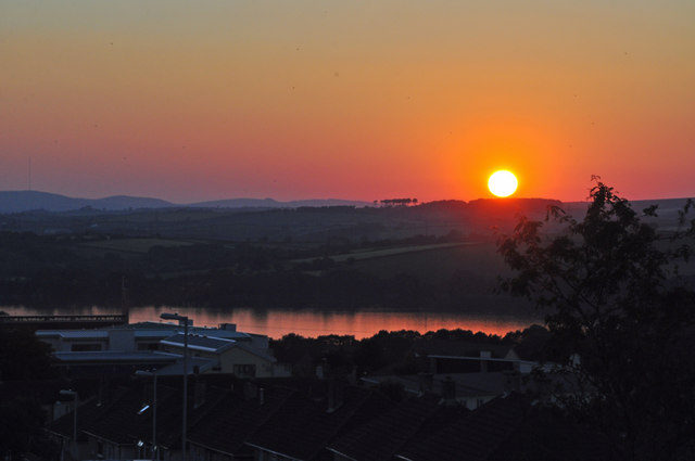 Cornish sunset from Ernesettle - Plymouth