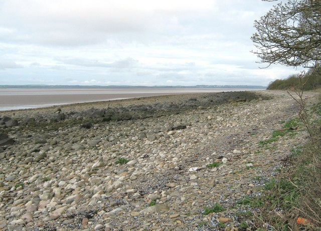 Beach below Carsluith Wood at low tide