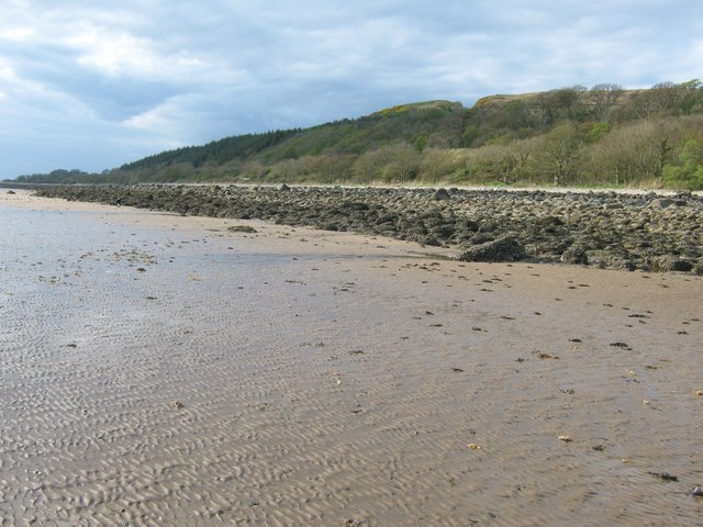 Low tide below Carsluith Wood