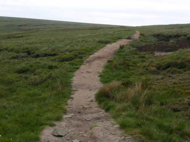 Moorland path between Pendle and the Nick