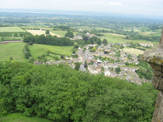 North Nibley Looking NW from the top of the Tyndale Monument