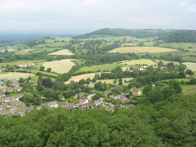 The Western Edge of the Cotswolds looking N from the Tyndale Monument