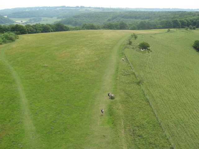 The Cotswold Way looking SE from the Tyndale Monument
