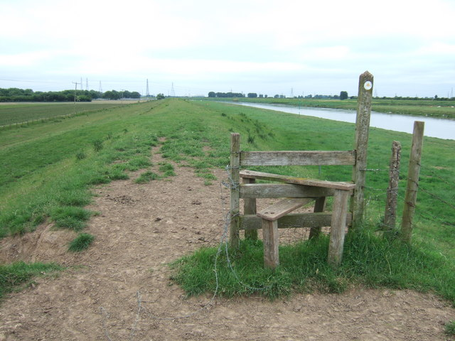 Stile on The Nene Way north of Wisbech