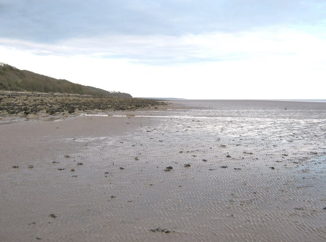 Very low tide on Kirkdale Sands