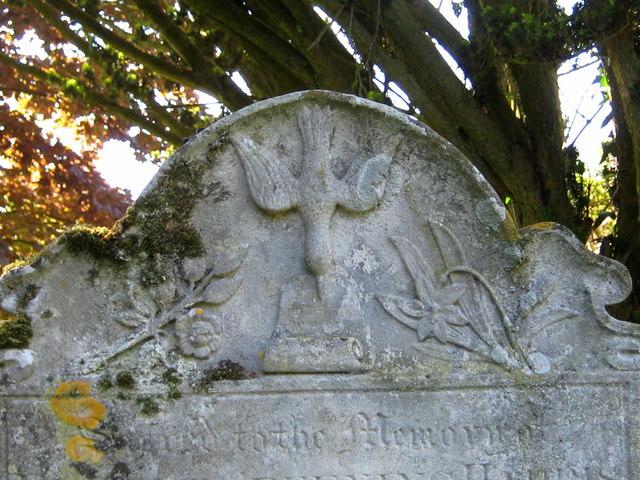 Ornate gravestone - St Mary's churchyard