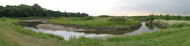 Meander in Rhymney River