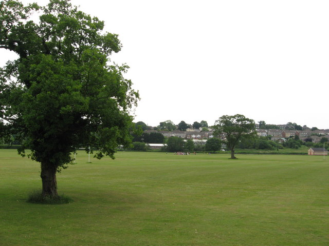 Playing fields near Rumney, Cardiff
