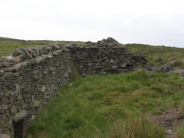Moorland wall junction