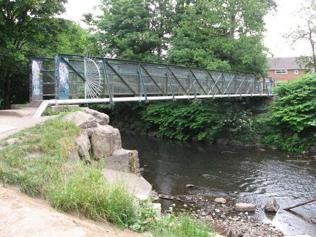 Footbridge over Rhymney River