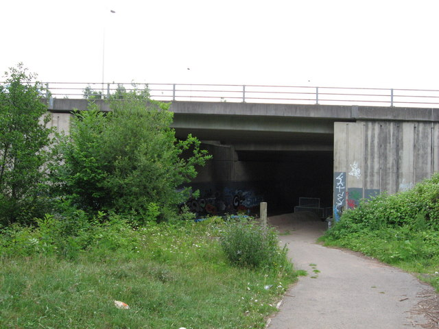 Underpass beneath the A48 near Cardiff