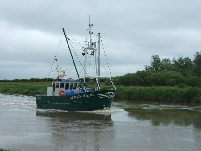 Fishing boat north of Wisbech
