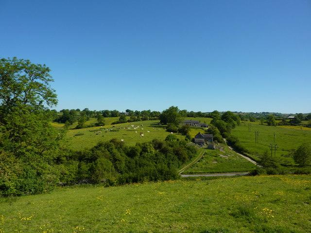 Two farms off Brackendale Lane.