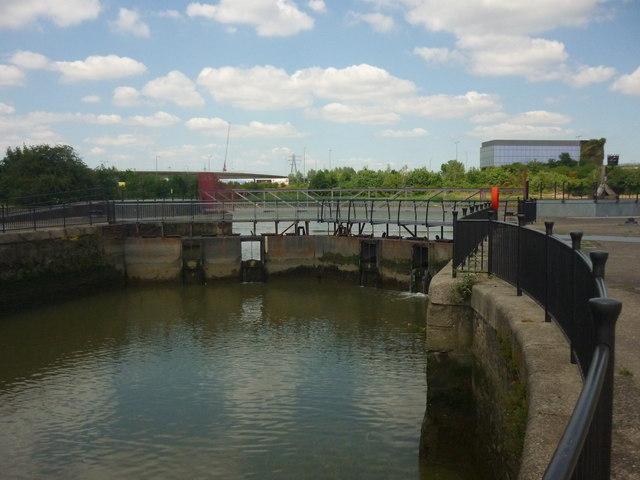 Inner entrance lock, East India Dock Basin, London