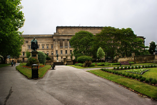 St George's Hall from the garden side
