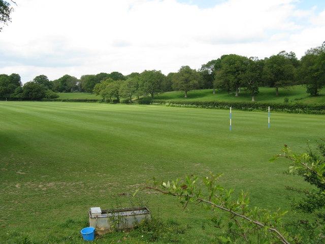 Polo field near Burningfold Manor