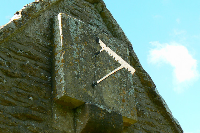 Sundial, Church of St Michael and All Angels, Harnhill