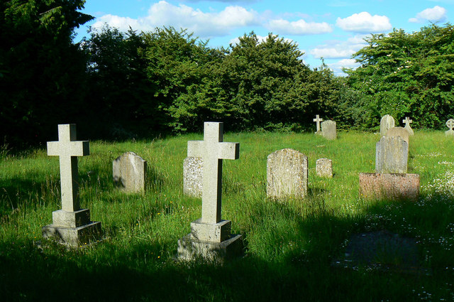 Churchyard, Church of St Michael and All Angels, Harnhill