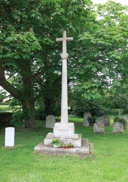 St Peter & St Paul, Watlington, Norfolk - Memorial cross