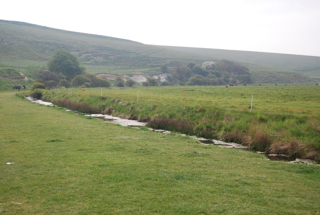 Drainage ditch, Seven Sisters Country Park
