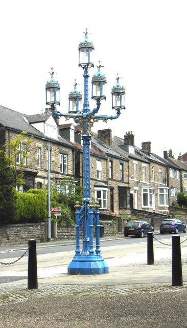 Victorian Gothic iron gas lamp, Norfolk Park
