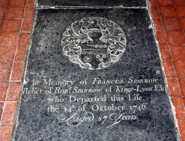 St Peter & St Paul, Watlington, Norfolk - Ledger slab