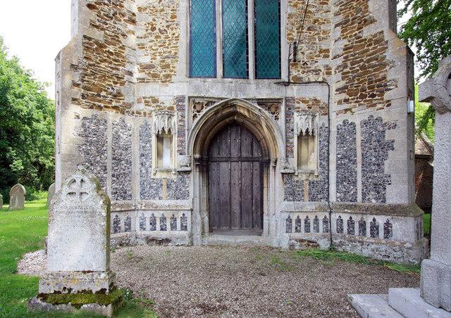 St Mary, West Winch, Norfolk - West doorway