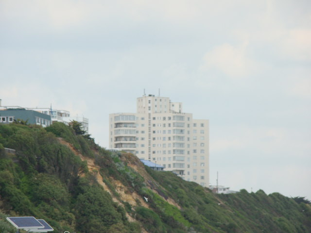 Flats on East Undercliff Drive viewed from the beach