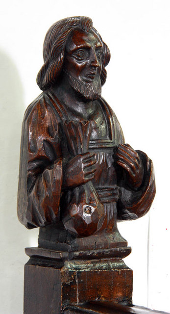 St Mary, West Winch, Norfolk - Carving on altar rail