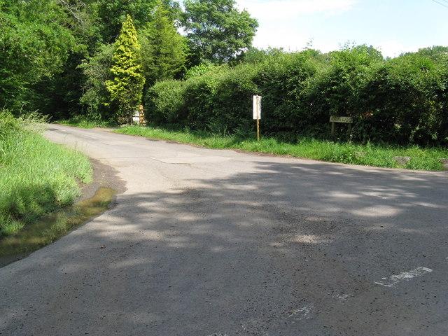 Rams Lane leading off Knightons Lane