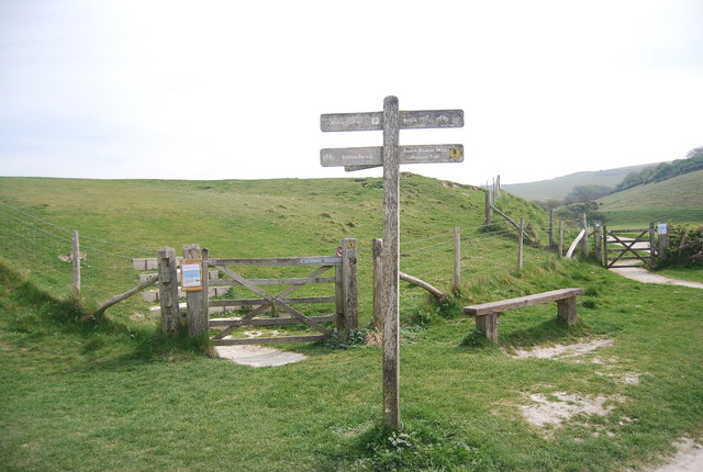 Finger post, South Downs Way, Seven Sisters Country Park