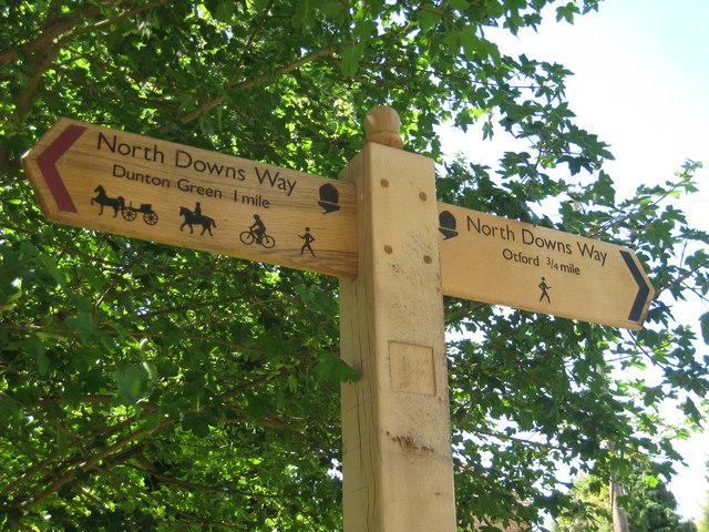 North Downs Way Sign