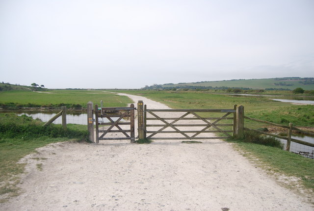 Gate, South Downs Way, Seven Sisters Country Park