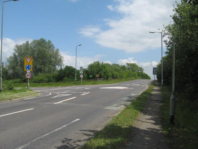 Roundabout near Smallfield