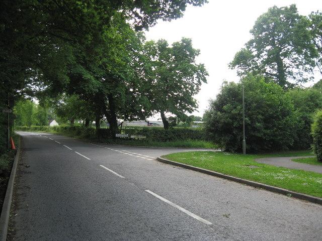 Junction of  Perrylands Lane with Broad Bridge Lane, Smallfield