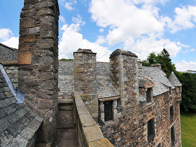 Elcho Castle from the wall walk