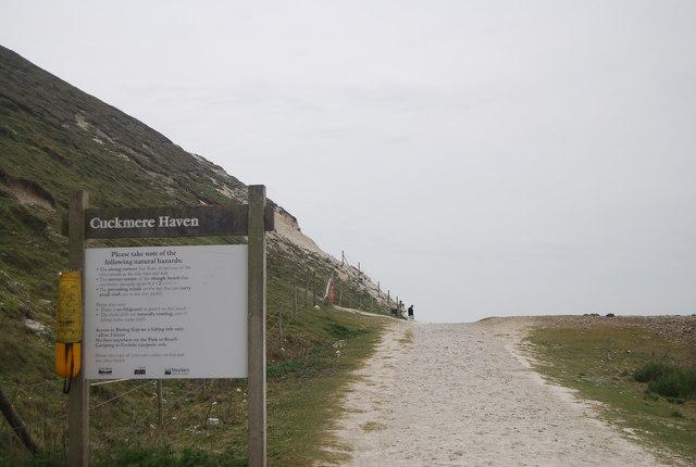 Information board, Cuckmere Haven