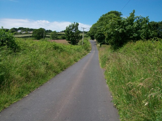 Road uphill towards the Old Vicarage